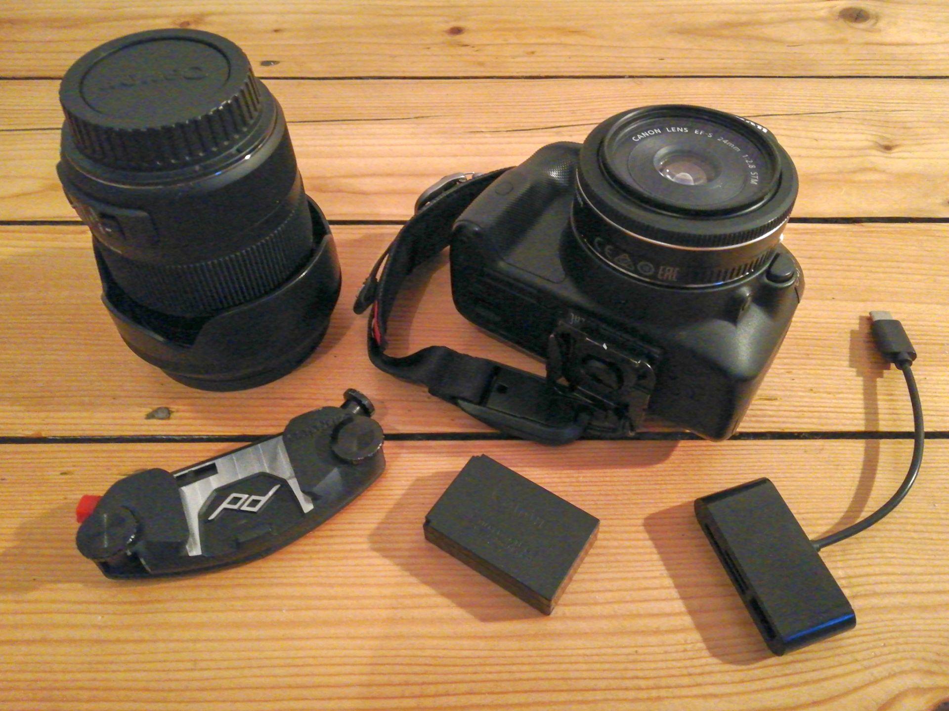 Fotoausrüstung Wandern Bergsteigen